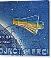 1962 Man In Space Stamp Canvas Print