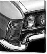 1963 Buick Riviera B/w Canvas Print