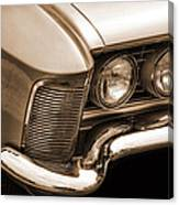 1963 Buick Riviera Sepia Canvas Print