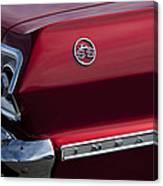 1963 Chevrolet Impala Ss Taillight Canvas Print