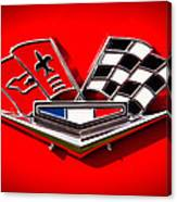 1963 Chevy Corvette Emblem Canvas Print