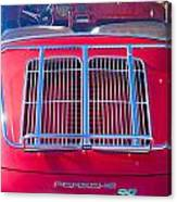 1963 Red Porsche 356b Super 90 Back End Canvas Print