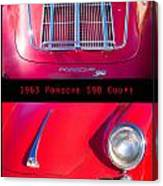 1963 Red Porsche S90 Coupe Poster Canvas Print