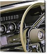 1964 Ford Thunderbird Steering Wheel Canvas Print