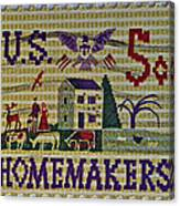 1964 Homemakers Five Cent Stamp Canvas Print