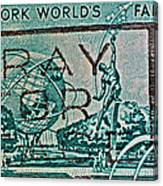 1964 New York World's Fair Stamp Canvas Print