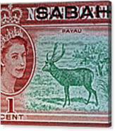 1964 North Borneo Sabah Stamp Canvas Print