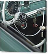 1964 Volkswagen Vw Steering Wheel 2 Canvas Print