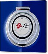 1965 Chevrolet Corvette Sting Ray Gas Cap Emblem Canvas Print