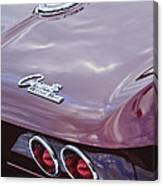 1965 Chevrolet Corvette Tail Light Canvas Print