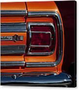 1965 Chevrolet Malibu Ss Taillight Emblem Canvas Print