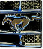 1965 Ford Shelby Mustang Grille Emblem Canvas Print