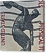 1965 Physical Fitness Stamp Canvas Print