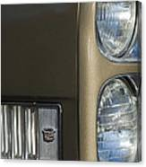 1966 Cadillac Emblem And Headlight Canvas Print