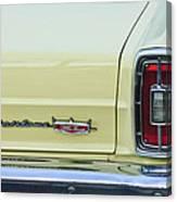 1966 Ford Fairlane Xl Taillight Emblem Canvas Print