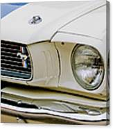 1966 Ford Shelby Gt 350 Grille Emblem Canvas Print