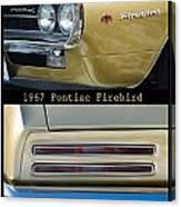1967 Bronze Pontiac Firebird  Poster S Canvas Print