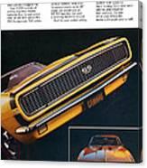 1967 Camaro Ss Canvas Print