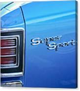 1967 Chevrolet Chevelle Super Sport Taillight Emblem Canvas Print