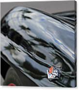 1967 Chevrolet Corvette Fender Emblem Canvas Print