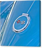 1967 Chevrolet Corvette Rear Emblem Canvas Print