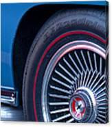 1967 Chevrolet Corvette Wheel 2 Canvas Print