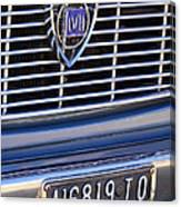 1967 Lancia Fulvia Berlina Grille Emblem Canvas Print