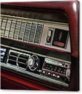 1967 Oldsmobile Cutlass 4-4-2 Dashboard Canvas Print