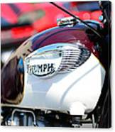 1967 Triumph Gas Tank 3 Canvas Print
