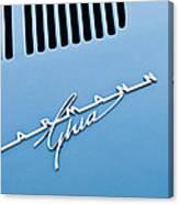 1967 Volkswagen Vw Karmann Ghia Emblem 4 Canvas Print