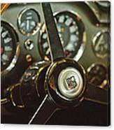 1968 Aston Martin Db6 Steering Wheel Emblem Canvas Print
