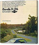 1968 Chevrolet Chevelle Ss 396 - It'd Be A Big Mover On Looks Alone. Canvas Print