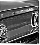 1968 Ford Mustang Gt B/w Canvas Print