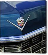 1969 Cadillac Hood Emblem Canvas Print