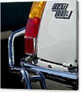 1969 Fiat 500 Taillight Emblem Canvas Print