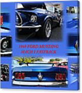 1969 Ford Mustang Mach 1 Fastback Canvas Print