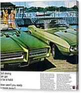 1969 Pontiac Gto And Firebird Canvas Print