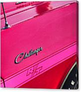 1970 Dodge Challenger Rt 440 Six Pack - Tickled Pink Canvas Print