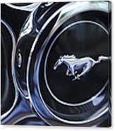 1970 Ford Mustang Gt Mach 1 Wheel Rim Emblem Canvas Print