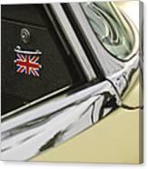 1970 Jaguar Xk Type-e Emblem Canvas Print