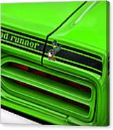 1970 Plymouth Road Runner - Sublime Green Canvas Print