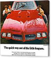 1970 Pontiac Gto - The Quick Way Out Of The Little Leagues. Canvas Print