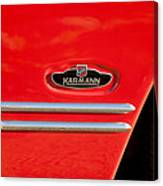 1970 Volkswagen Vw Karmann Ghia Emblem Canvas Print