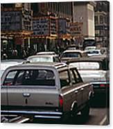 1970s America. 42nd Street Between 7th Canvas Print