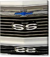 1971 Chevrolet Nova Ss350 Grille Emblem Canvas Print