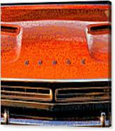1971 Dodge Challenger - Orange Mopar Typography - Mp002 Canvas Print