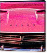 1971 Dodge Challenger - Pink Mopar Typography Canvas Print
