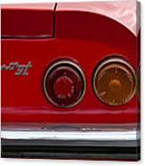 1972 Ferrari Dino 246gt Taillight Emblem Canvas Print