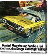 1973 Dodge Challenger Rallye Canvas Print