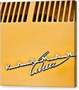 1973 Volkswagen Karmann Ghia Convertible Emblem Canvas Print